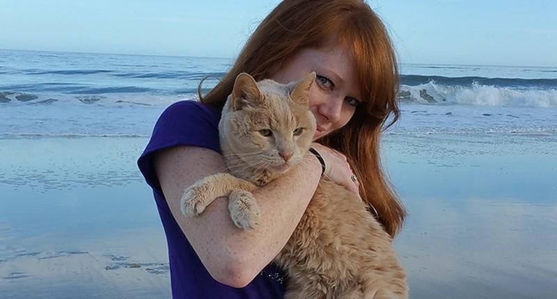 Девушка спасла 21-летнего кота, которого бросил хозяин, и решила скрасить последние дни его жизни доброта, животные, коты
