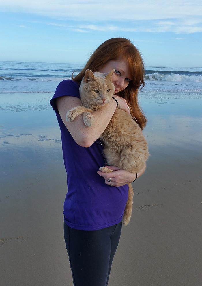 «…и больше всего пока ему полюбился пляж» доброта, животные, коты