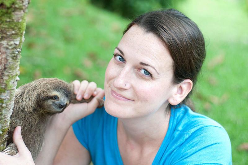 Основатель института ленивцев в Коста-Рике Сэм Трал с 2013 года помогает детёнышам ленивцев возвращаться в естественную среду обитания. животные, факты