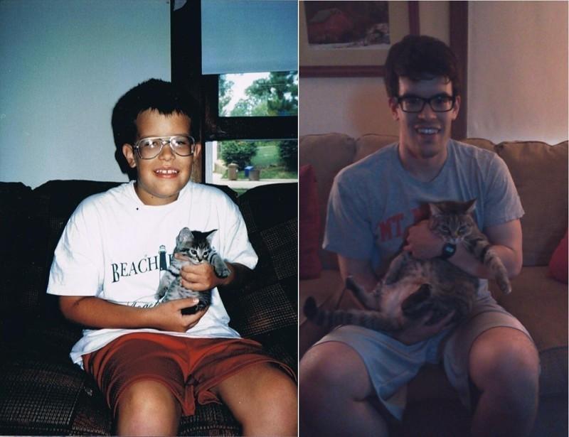Почти не изменились. животные, питомцы, тогда и сейчас