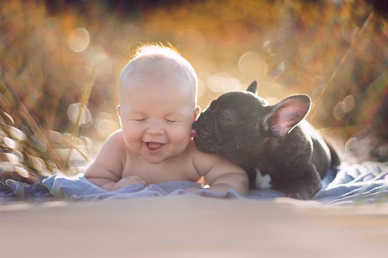"""""""Увидев дату рождения Фарли, я осознала, что они созданы друг для друга"""" бульдог, животные, милота, ребенок, собака"""