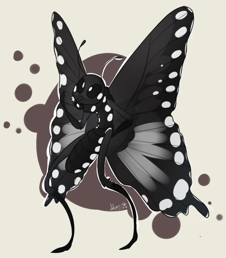 Необычный питомец подростка: огромная гусеница превратилась в бабочку бабочка, гусеница, животные