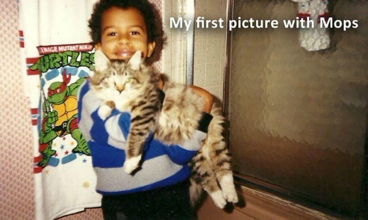 """""""Моя первая фотография с Мопси"""" животные, истории, кошки, трогательно"""