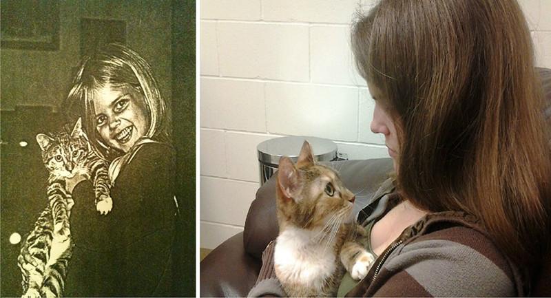 Другие пользователи также поделились фотографиями своих любимых кошек - их первыми и их последними снимками животные, истории, кошки, трогательно