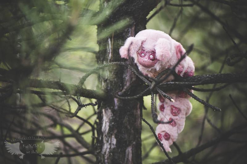 Гигантская зефирная гусеница  животные, сад, фантазия