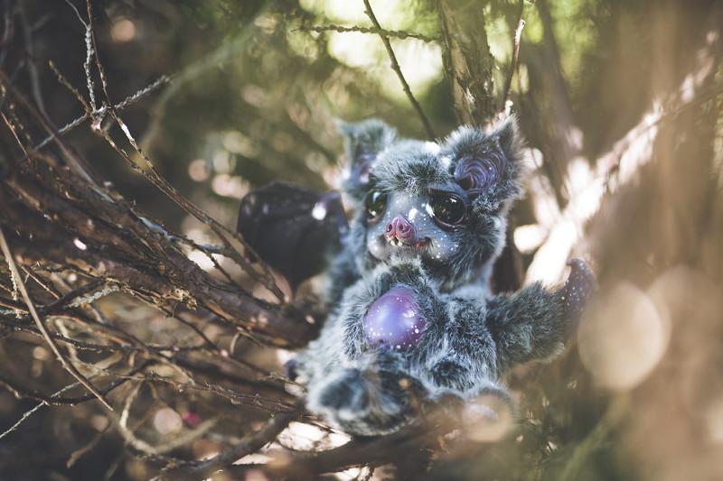 Космическая летучая мышь  животные, сад, фантазия