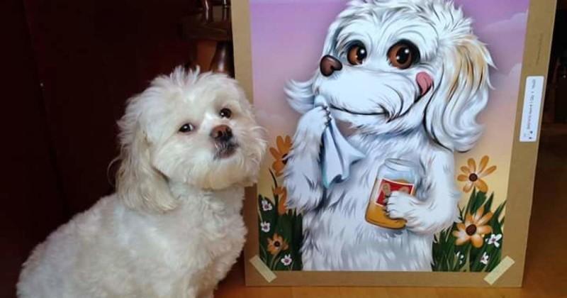 Иллюстратор создает милые и забавные «мультяшные» портреты домашних животных животные, иллюстратор, питомцы, художник