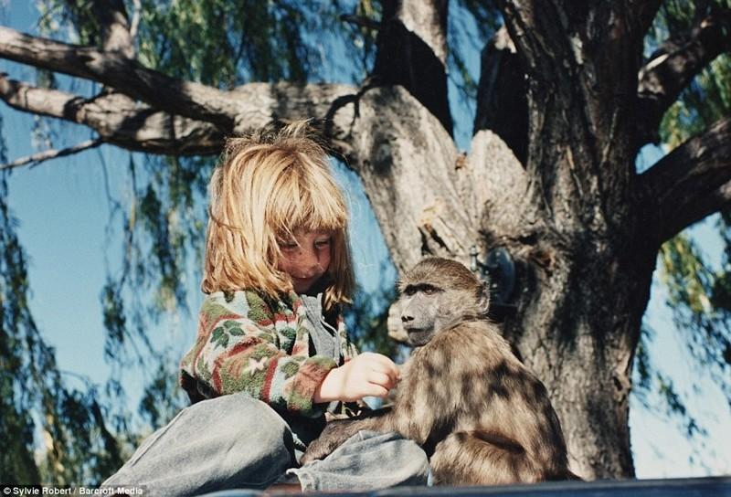 С бабуином по имени Сидни (Намибия) африка, маугли, ребята и зверята, фотографии животных