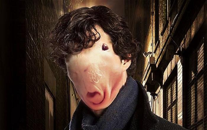1. Шерлок Холмс  битва, морская свинка, фотошоп