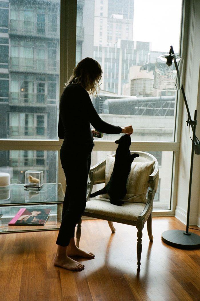 Ракель и Гельмут девушки, животные, коты, фотопроект