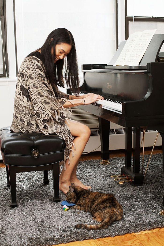 Шугар и Коко девушки, животные, коты, фотопроект