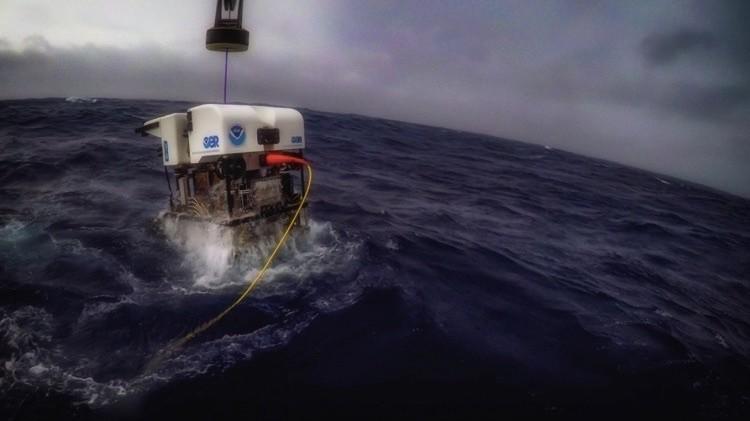 Дистанционно управляемый подводный аппарат Deep Discoverer. снимки, тихого океана
