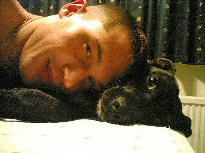 Себяшка с человеком актер, животные, кино, милота, собака, собаки, том харди, фильм