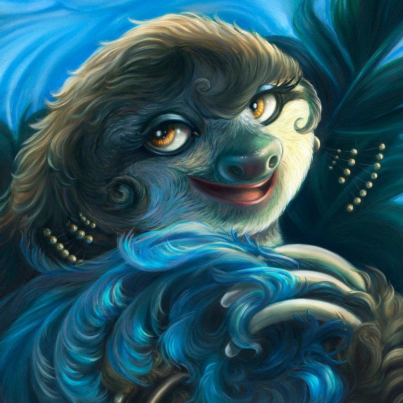 11. Жозефина Бейкер животные, иллюстрация, картина, личность, портрет, фантазия, художница
