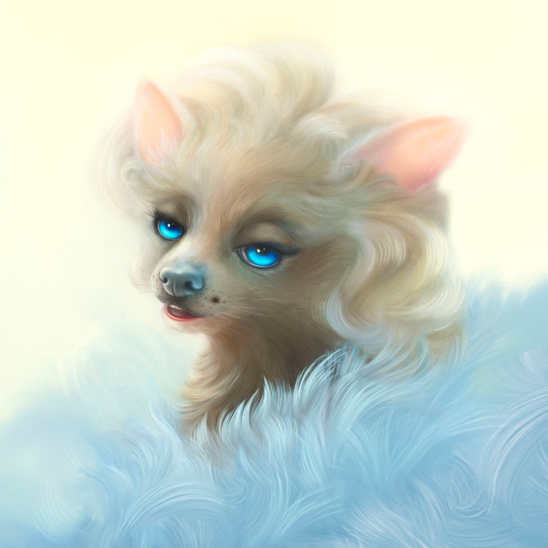 2. Мэрилин Монро  животные, иллюстрация, картина, личность, портрет, фантазия, художница