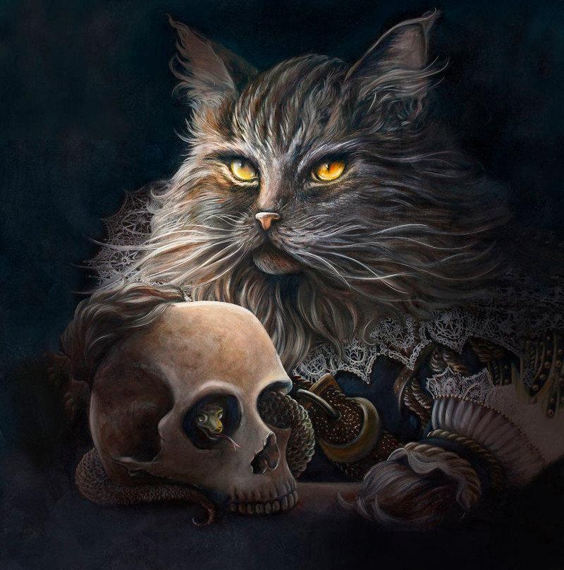 4. Уильям Шекспир животные, иллюстрация, картина, личность, портрет, фантазия, художница