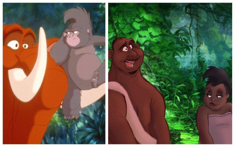 """""""Тарзан"""" анимация, дисней, животные, перевоплощение, персонажи, фото, художник"""