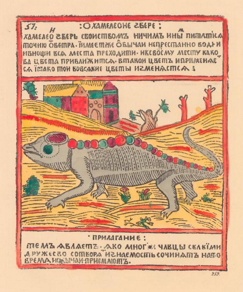 Изображение хамелеона животные, история, коты, лубочные картинки, мыши, русь, собаки